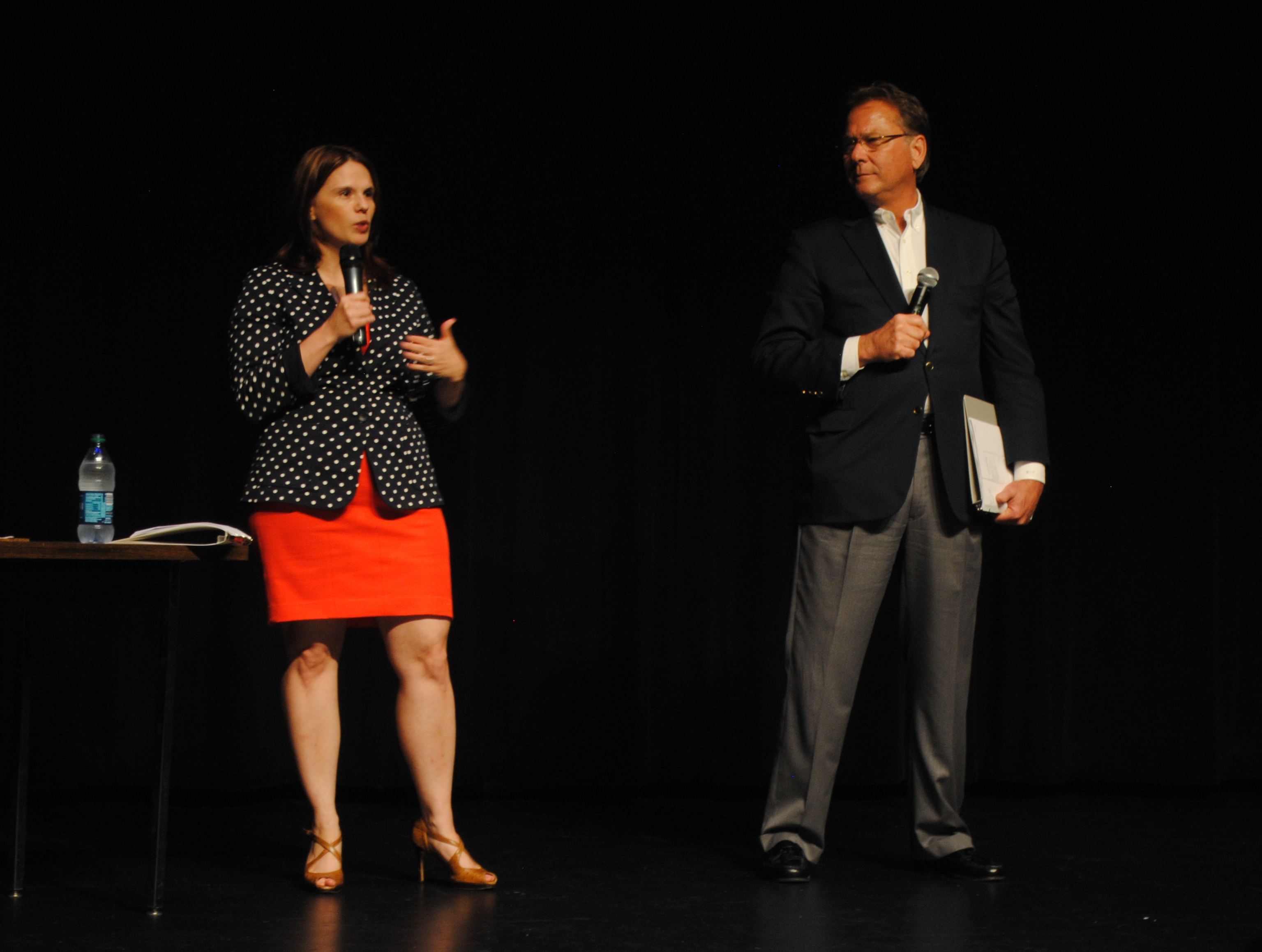 Houston-based Elder Law attorneys Christina Lesher and Wesley E. Wright spoke on the importance of early estate planning at the Evelyn Rubenstein Jewish Community Center Tuesday night.