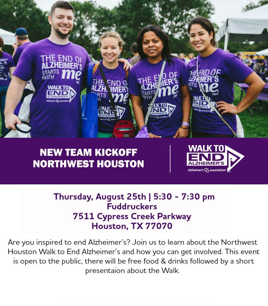 New Team Kickoff Northwest Houston Alzheimers