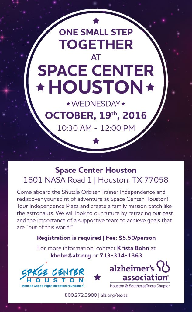 Alzheimer's program at Space Center Houston