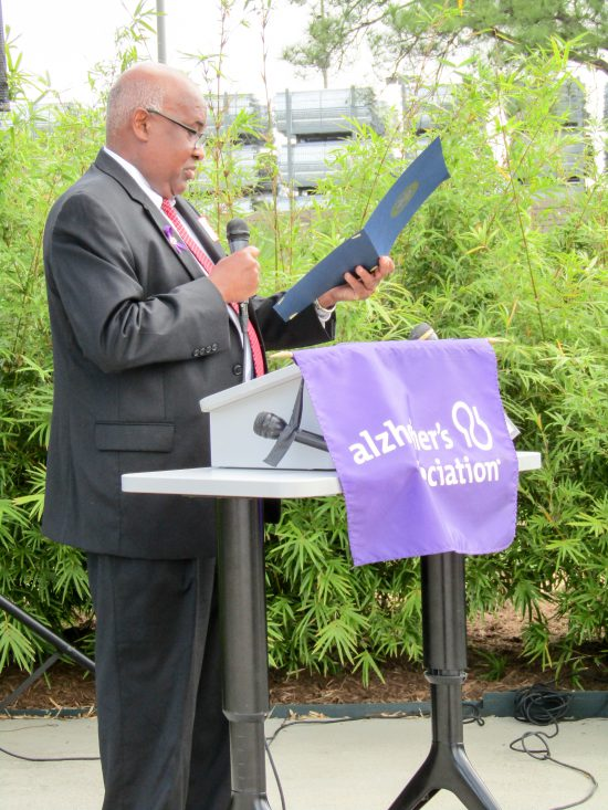 Alzheimer's Association Houston 9-11 Memorial Garden Booker T Morris, District Director, Houston Office, Office of Representative Sheila Jackson-Lee