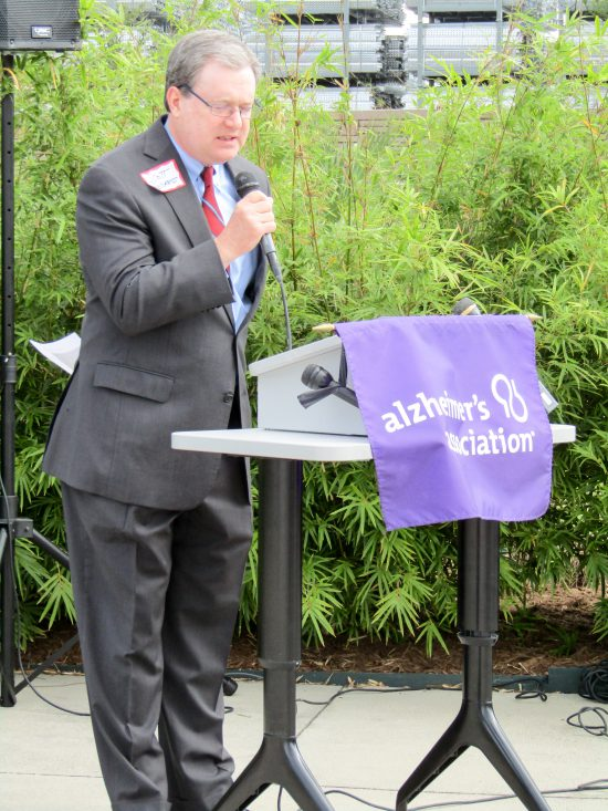 Alzheimer's Association Houston 9-11 Memorial Garden Pastor Scott Endress, Pastoral Care/Senior Adult Ministry, Chapelwood United Methodist Church