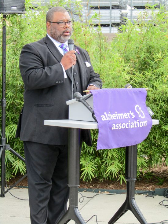 Alzheimer's Association Houston 9-11 Memorial Garden Reverend Jaques Denkins, Minister to Senior Adults, Wheeler Avenue Baptist Church
