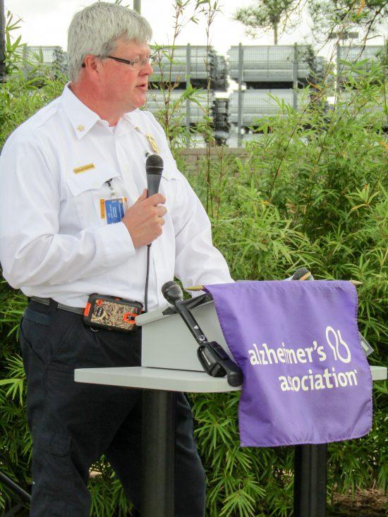 Alzheimer's Association Houston 9-11 Memorial Garden Deputy Chief Doug Harrison, Houston Fire Department