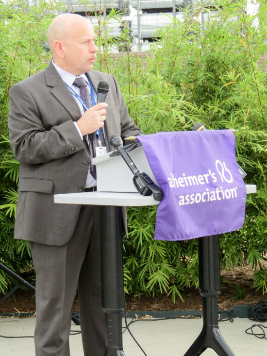 Alzheimer's Association Houston 9-11 Memorial Garden Chief Charles Vasquez, Houston Police Department