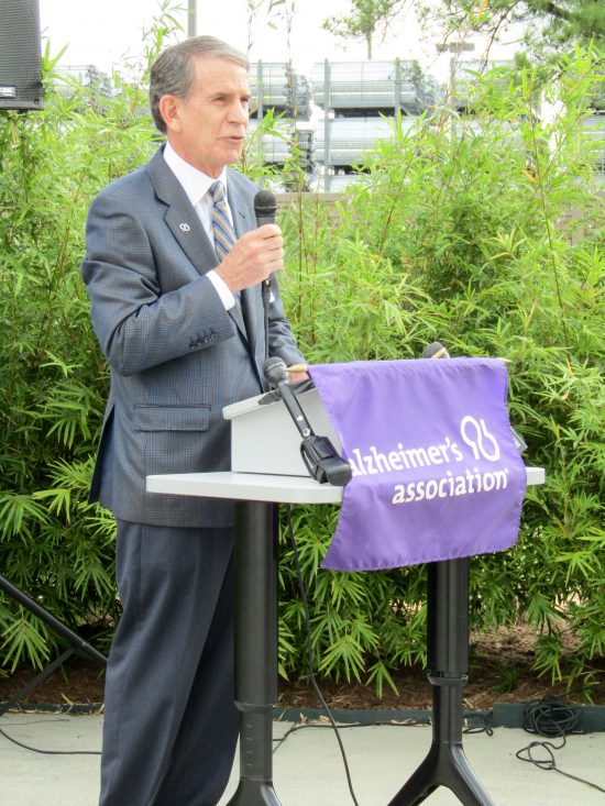 Alzheimer's Association Houston 9-11 Memorial Garden Chris Binkley, Alzheimer's Association National Board Chairman