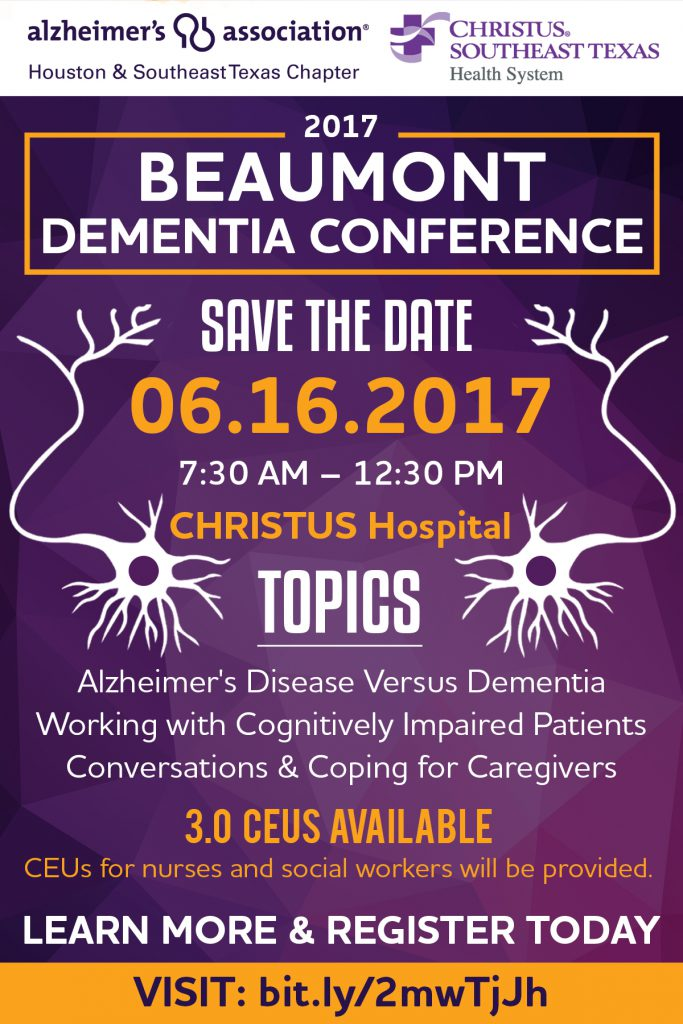 Alzheimer's Association Beaumont Dementia Conference Postcard