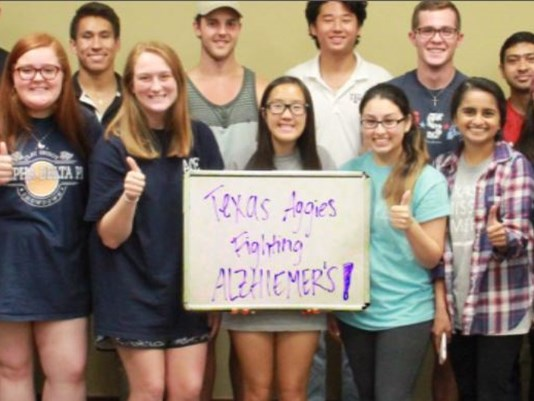 texas aggies fighting alzheimer's group