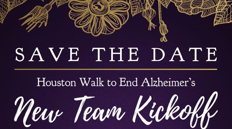 Houston Walk to End Alzheimer's 2017 New Team Kickoff