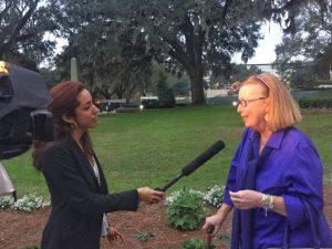 Carol Poole speaking for the Alzheimer's Association