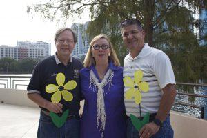 Carol Poole speaking at Walk to End Alzheimer's