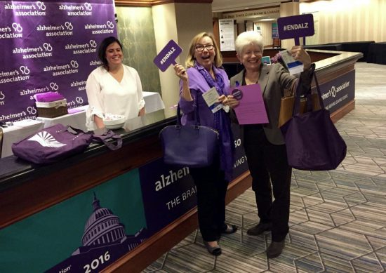 Carol Poole at Alzheimer's Association Advocacy Forum in Washington DC